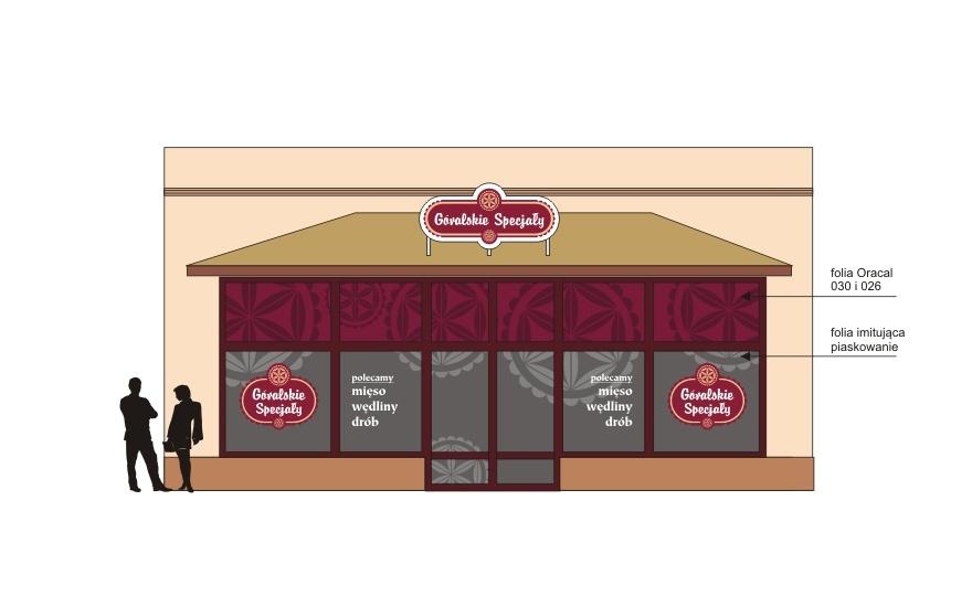 Projekt elewacji sklepu firmowego