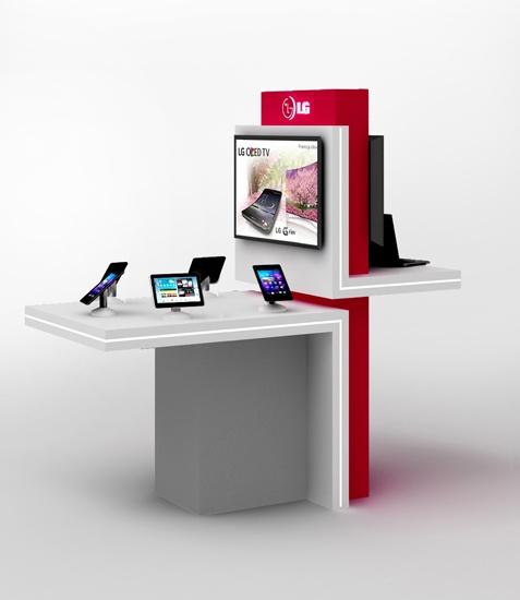 Stół ekspozycyjny dla LG