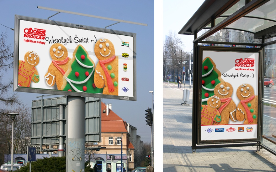 Billboard i citylight dla Społem