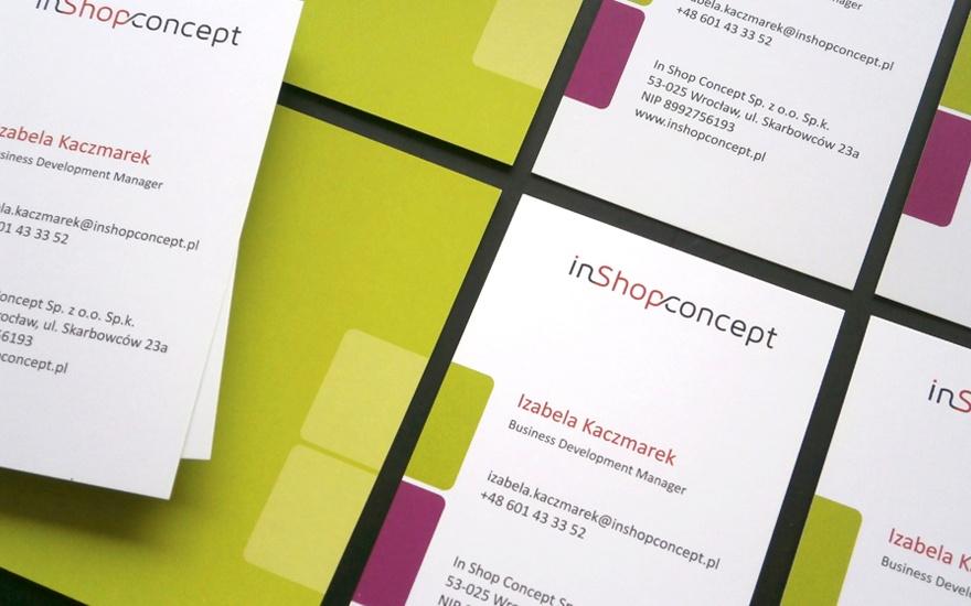 Wizytówki dla InShopConcept