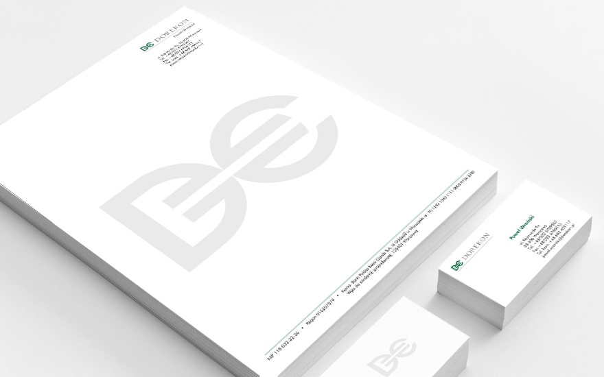 Wizytówki i papier firmowy dla Dorekon