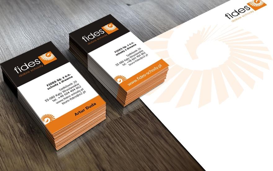Wizytówki i papier firmowy dla Fides