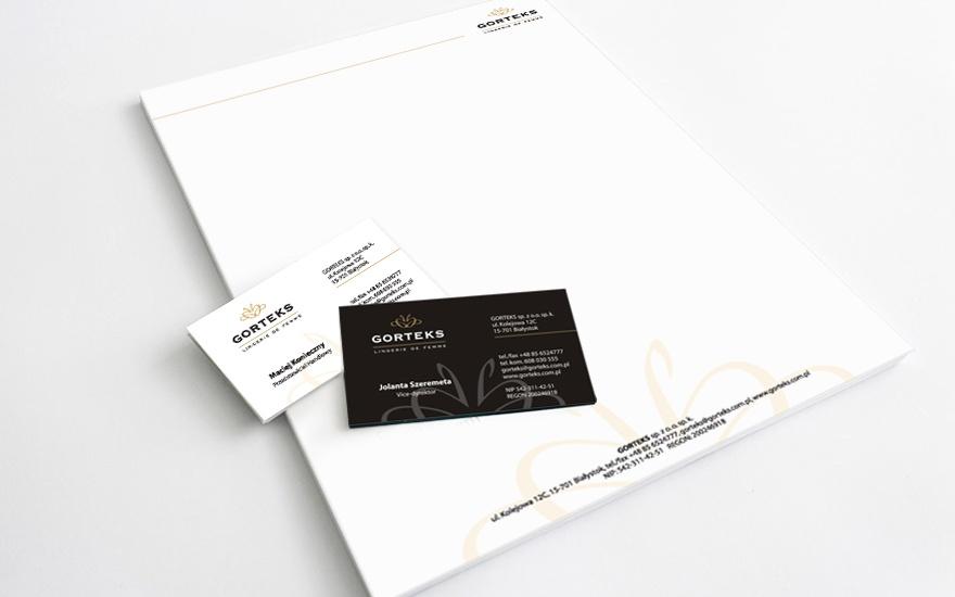 Wizytówki i papier firmowy dla Gorteks