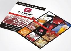 ulotka dla delikatesów City Market
