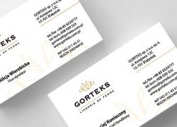 Wizytówki dla Gorteks